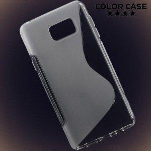 Силиконовый чехол для Samsung Galaxy Note 5 - S-образный Прозрачный