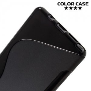 Силиконовый чехол для Samsung Galaxy Note 7 - S-образный Черный