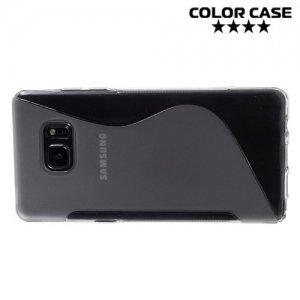Силиконовый чехол для Samsung Galaxy Note 7 - S-образный Серый