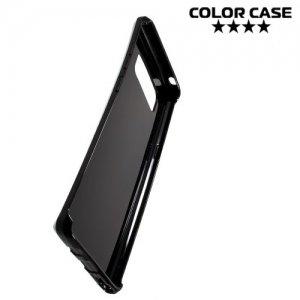 Силиконовый чехол для Samsung Galaxy Note 8 - S-образный Черный