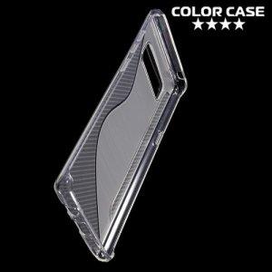 Силиконовый чехол для Samsung Galaxy Note 8 - S-образный Прозрачный