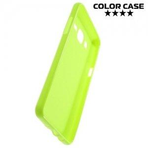 Силиконовый чехол для Samsung Galaxy On5 - Глянцевый Зеленый