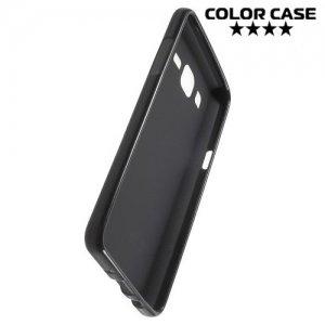 Силиконовый чехол для Samsung Galaxy On5 - Матовый Черный