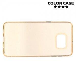 Силиконовый чехол для Samsung Galaxy S6 Edge Plus - Золотой