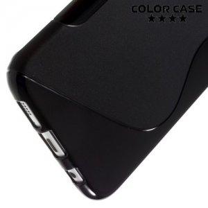 Силиконовый чехол для Samsung Galaxy S7 Edge - S-образный Черный