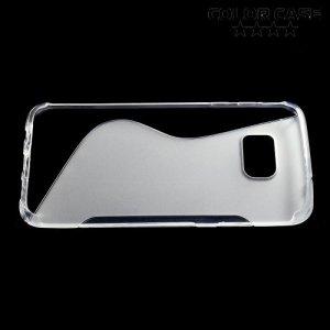 Силиконовый чехол для Samsung Galaxy S7 Edge - S-образный Прозрачный