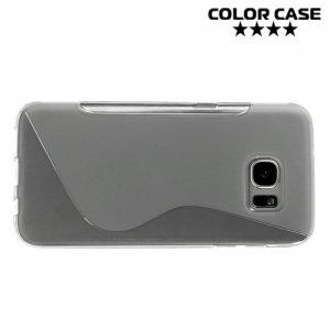 Силиконовый чехол для Samsung Galaxy S7 Edge - S-образный Серый