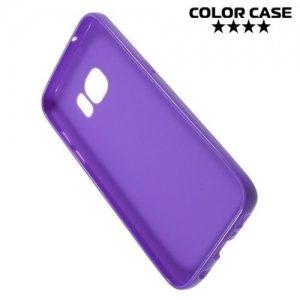 Силиконовый чехол для Samsung Galaxy S7 - Глянцевый Фиолетовый