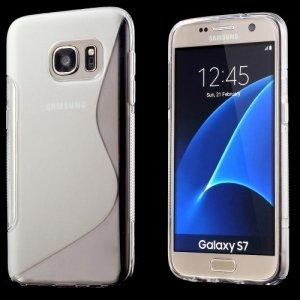 Силиконовый чехол для Samsung Galaxy S7 - S-образный Прозрачный