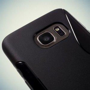 Силиконовый чехол для Samsung Galaxy S7 - S-образный Черный