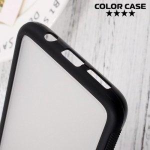 Матовый кейс на Samsung Galaxy S8 с черными силиконовыми ребрами