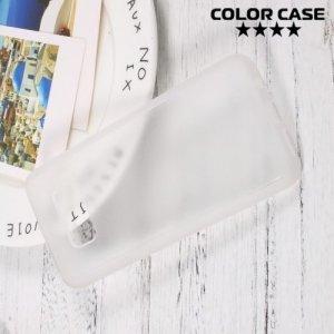 Матовый кейс на Samsung Galaxy S8 с белыми силиконовыми ребрами