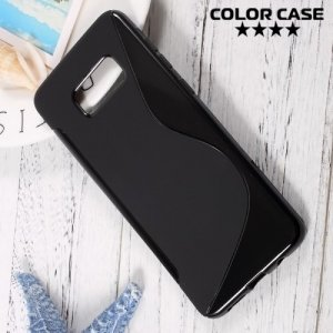 Силиконовый чехол для Samsung Galaxy S8 Plus - S-образный Черный