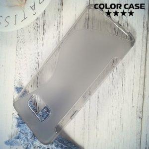 Силиконовый чехол для Samsung Galaxy S8 Plus - S-образный Серый