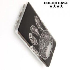 Силиконовый чехол для Samsung Galaxy S8 Plus - с рисунком Ловец снов на черном