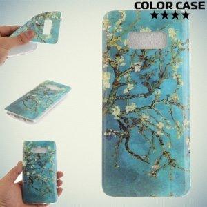 Силиконовый чехол для Samsung Galaxy S8 Plus - с рисунком Миндальное дерево