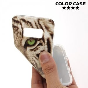 Силиконовый чехол для Samsung Galaxy S8 - с рисунком Тигр