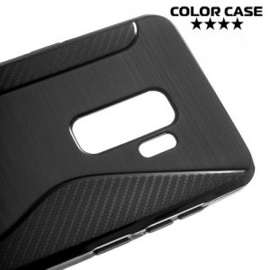Силиконовый чехол для Samsung Galaxy S9 Plus - S-образный Черный