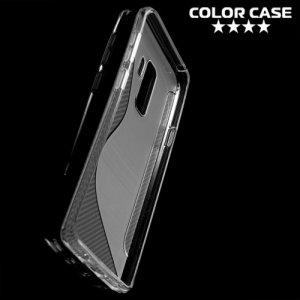Силиконовый чехол для Samsung Galaxy S9 Plus - S-образный Прозрачный
