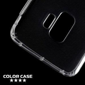 Силиконовый чехол для Samsung Galaxy S9 противоударный - Прозрачный