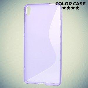 Силиконовый чехол для Sony Xperia E5 F3311 - S-образный Фиолетовый