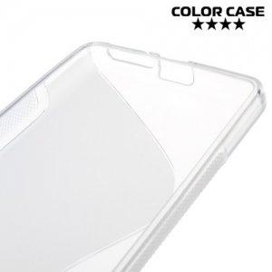 Силиконовый чехол для Sony Xperia E5 F3311 - S-образный Прозрачный