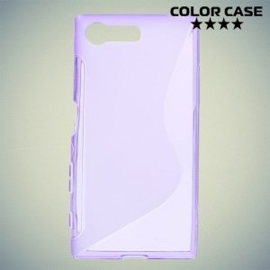 Силиконовый чехол для Sony Xperia X Compact - S-образный Фиолетовый