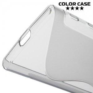 Силиконовый чехол для Sony Xperia X Compact - S-образный Серый