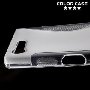 Силиконовый чехол для Sony Xperia X Compact - S-образный Прозрачный