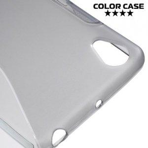 Силиконовый чехол для Sony Xperia X Performance - S-образный Серый