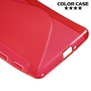 Силиконовый чехол для Sony Xperia X Performance - S-образный Красный