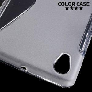 Силиконовый чехол для Sony Xperia X - S-образный Прозрачный
