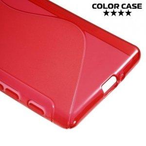 Силиконовый чехол для Sony Xperia X - S-образный Красный