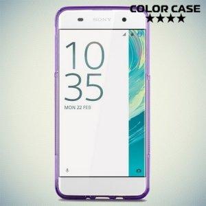 Силиконовый чехол для Sony Xperia XA - S-образный Фиолетовый