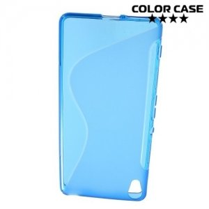 Силиконовый чехол для Sony Xperia XA - S-образный Синий