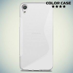 Силиконовый чехол для Sony Xperia XA - S-образный Прозрачный