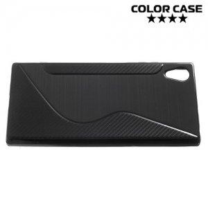 Силиконовый чехол для Sony Xperia XA1 Plus - S-образный Черный
