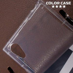 Силиконовый чехол для Sony Xperia XA1 противоударный - Прозрачный