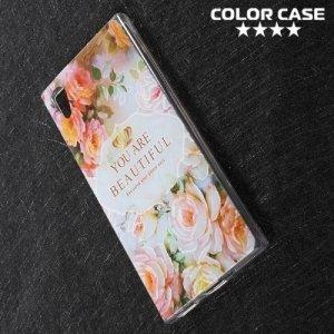 Силиконовый чехол для Sony Xperia XA1 - с рисунком Цветы