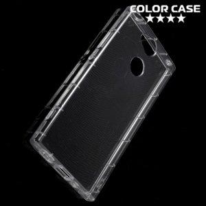 Силиконовый чехол для Sony Xperia XA2 противоударный - Прозрачный