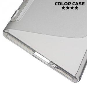 Силиконовый чехол для Sony Xperia XZ / XZs - S-образный Серый