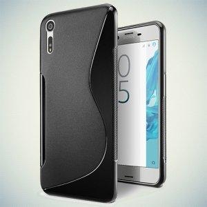 Силиконовый чехол для Sony Xperia XZ / XZs - S-образный Черный