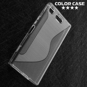 Силиконовый чехол для Sony Xperia XZ1 Compact - S-образный Прозрачный