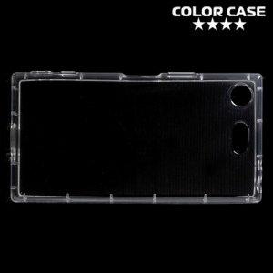 Силиконовый чехол для Sony Xperia XZ1 Compact противоударный - Прозрачный