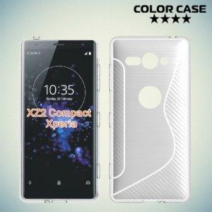 Силиконовый чехол для Sony Xperia XZ2 Compact - S-образный Прозрачный