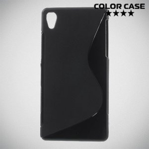 Силиконовый чехол для Sony Xperia Z2 - S-образный Черный