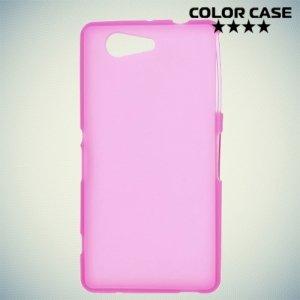 Силиконовый чехол для Sony Xperia Z3 Compact D5803 - Матовый Розовый