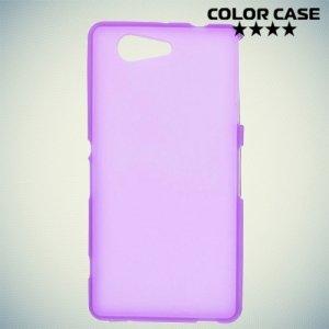 Силиконовый чехол для Sony Xperia Z3 Compact D5803 - Матовый Фиолетовый