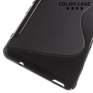 Силиконовый чехол для Sony Xperia Z3 Compact D5803 - S-образный Черный