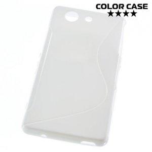 Силиконовый чехол для Sony Xperia Z3 Compact D5803 - S-образный Белый